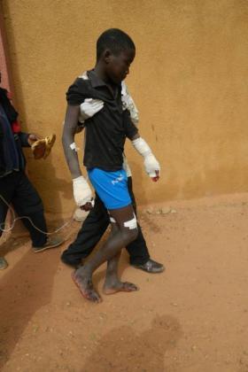 Boy at a health centre