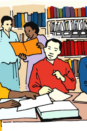 A resource centre should be a pleasant environment for learning
