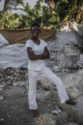 Girl smiling, Haiti