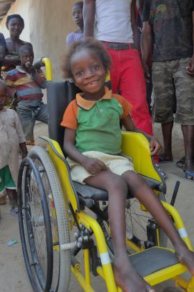 Girl gets ready for school, Sierra Leone
