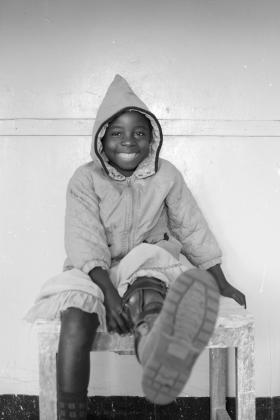 Girl smiling, Democratic Republic of Congo